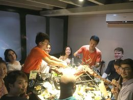 Teachers and students share food in Shanghai