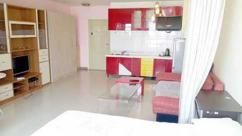 Serviced Apartment Living Room and Kitchen in Beijing